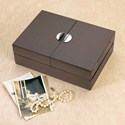 Wood Keepsake and Jewelry Storage Box - Espresso