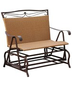 Resin Wicker Patio Glider