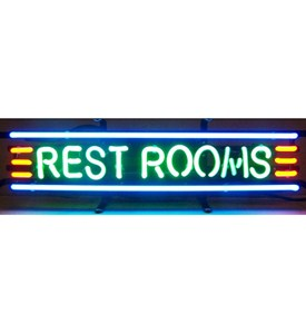 Restrooms Neon Sign by Neonetics Image