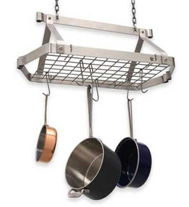 Retro Rectangle Hanging Pot Rack Image