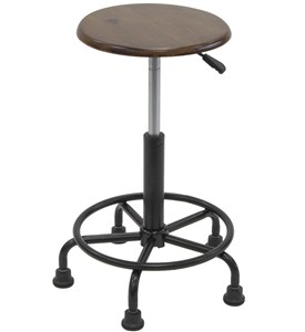 Wide Base Retro Stool Image