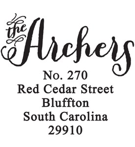 Return Address Stamp - Archer Image