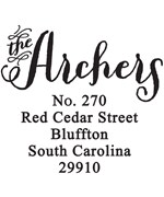 Return Address Stamp - Archer