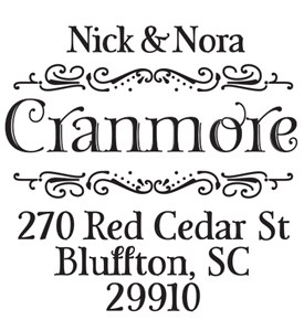 Return Address Stamp - Nora Image
