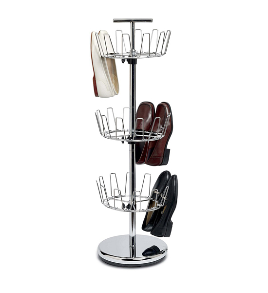 Shoe Carousel Chrome In Shoe Racks