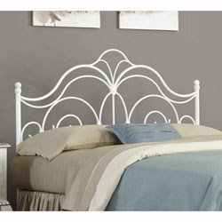 Rhapsody Glossy White Headboard by Fashion Bed Group Image