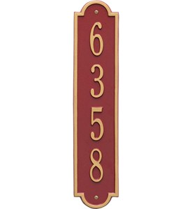 Richmond Vertical Home Address Plaque Image