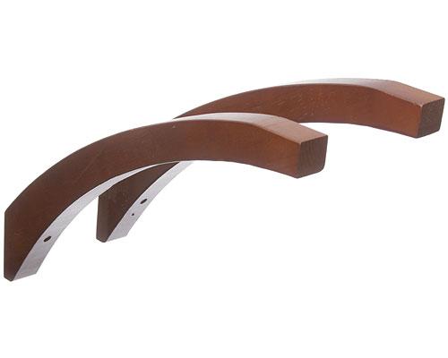 Angled Wood Shelf Brackets Red Mahogany Set Of 2 In