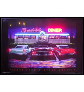 Roadside Diner Neon LED Art Picture by Neonetics Image