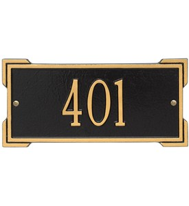 Roanoke Entryway Home Address Plaque Image
