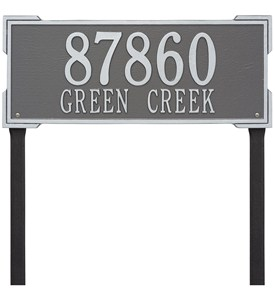 Roanoke Lawn Address Plaque - Estate Two-Line Image