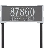 Roanoke Lawn Address Plaque - Estate Two-Line