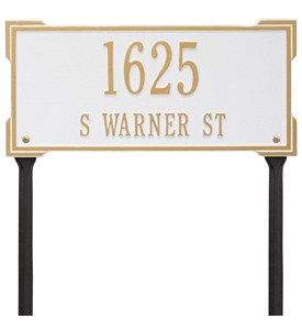 Roanoke Lawn Address Plaque - Two-Line Image
