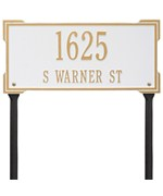 Roanoke Lawn Address Plaque - Two-Line