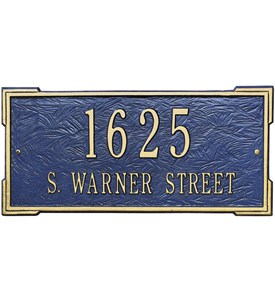 Roanoke Wall Address Plaque - Estate Two-Line Image