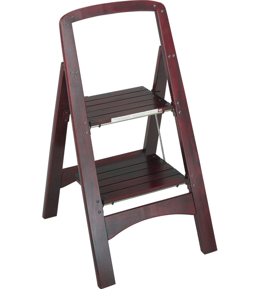 Rockford Two Step Step Stool Mahogany In Step Stools