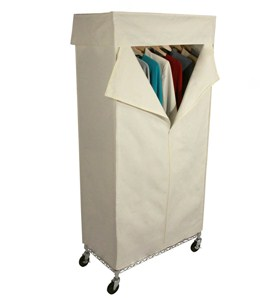 Rolling Wardrobe Closet and Canvas Cover Image