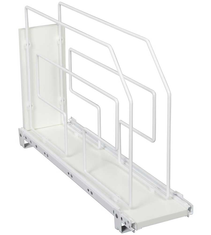 rollout tray divider and storage rack 6 inch