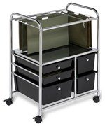 Rolling File Cart - Black
