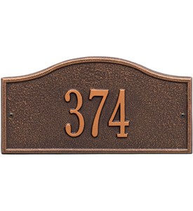 Rolling Hills Entryway Home Address Plaque Image