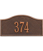 Rolling Hills Entryway Home Address Plaque