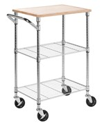 Rolling Kitchen Cart - Chrome