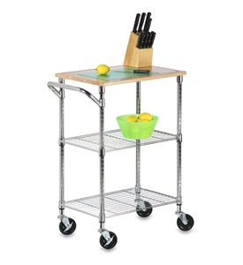 Rolling Kitchen Cart - Chrome Image