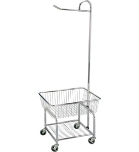 Rolling Laundry Cart - Chrome Image