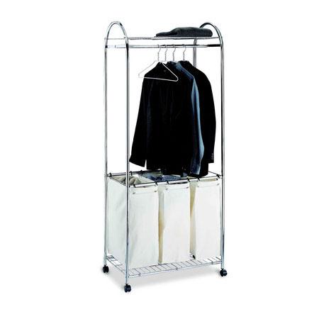 rolling laundry hamper triple sorter price - Laundry Carts