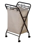 Rolling Laundry Hamper - Antique Bronze