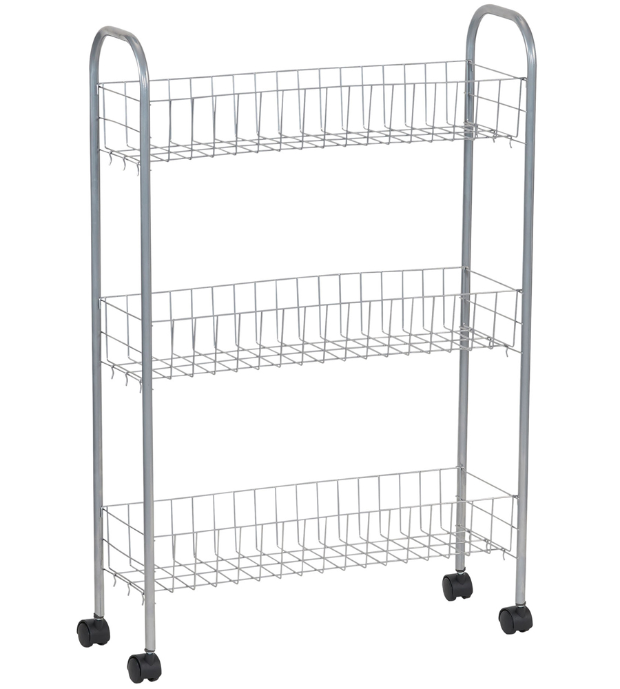 Rolling Laundry Room Storage Cart in Laundry Carts