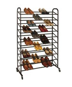 Rolling Shoe Rack - 50 Pair