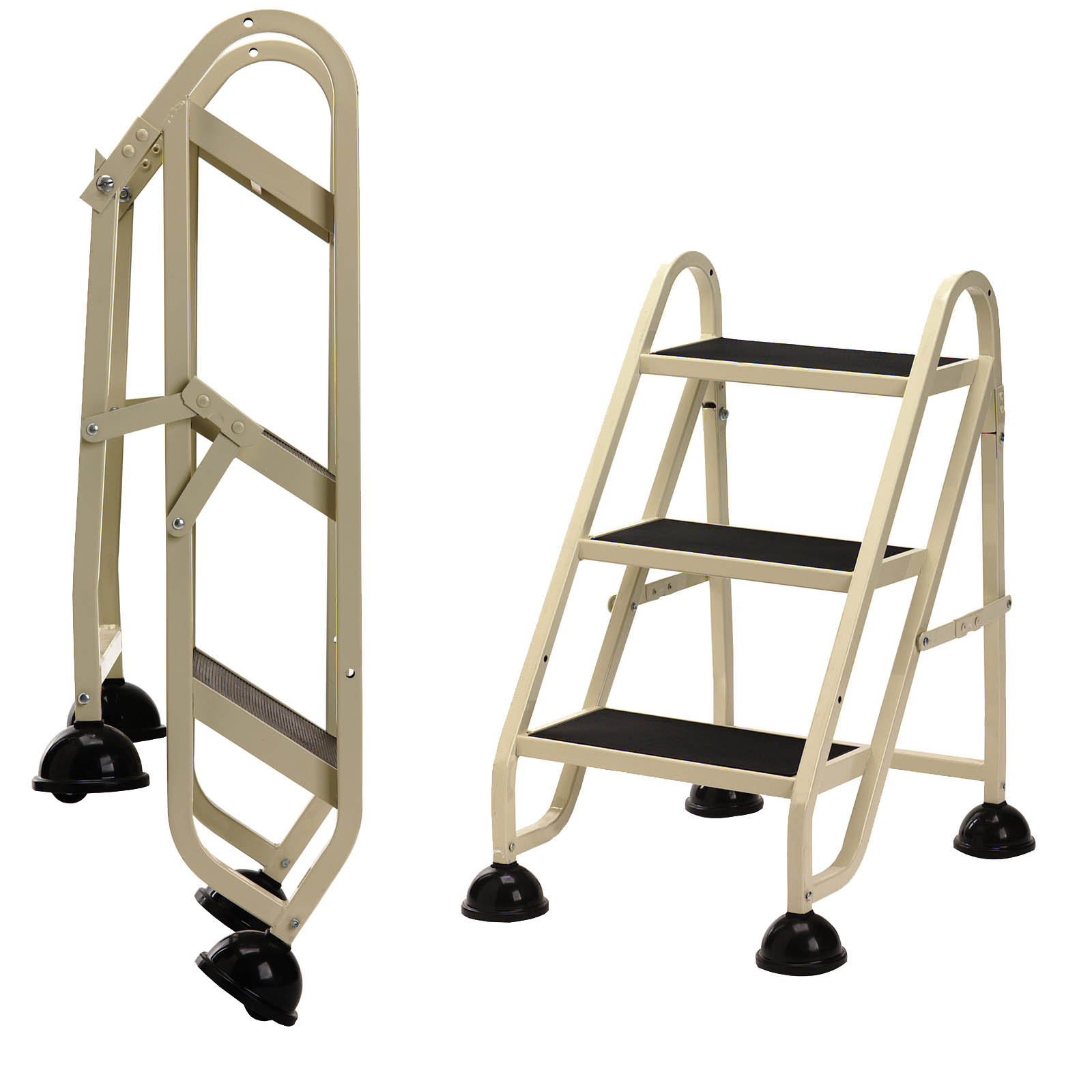 Rolling Step Ladder 3 Step In Step Stools