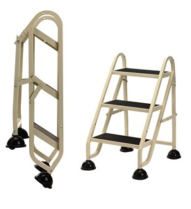 Rolling Step Ladder-3 Step Image