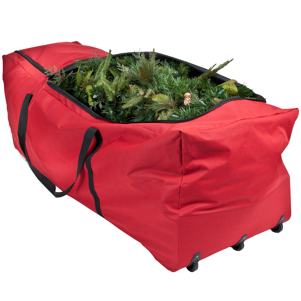 rolling christmas tree storage bag in christmas tree storage. Black Bedroom Furniture Sets. Home Design Ideas