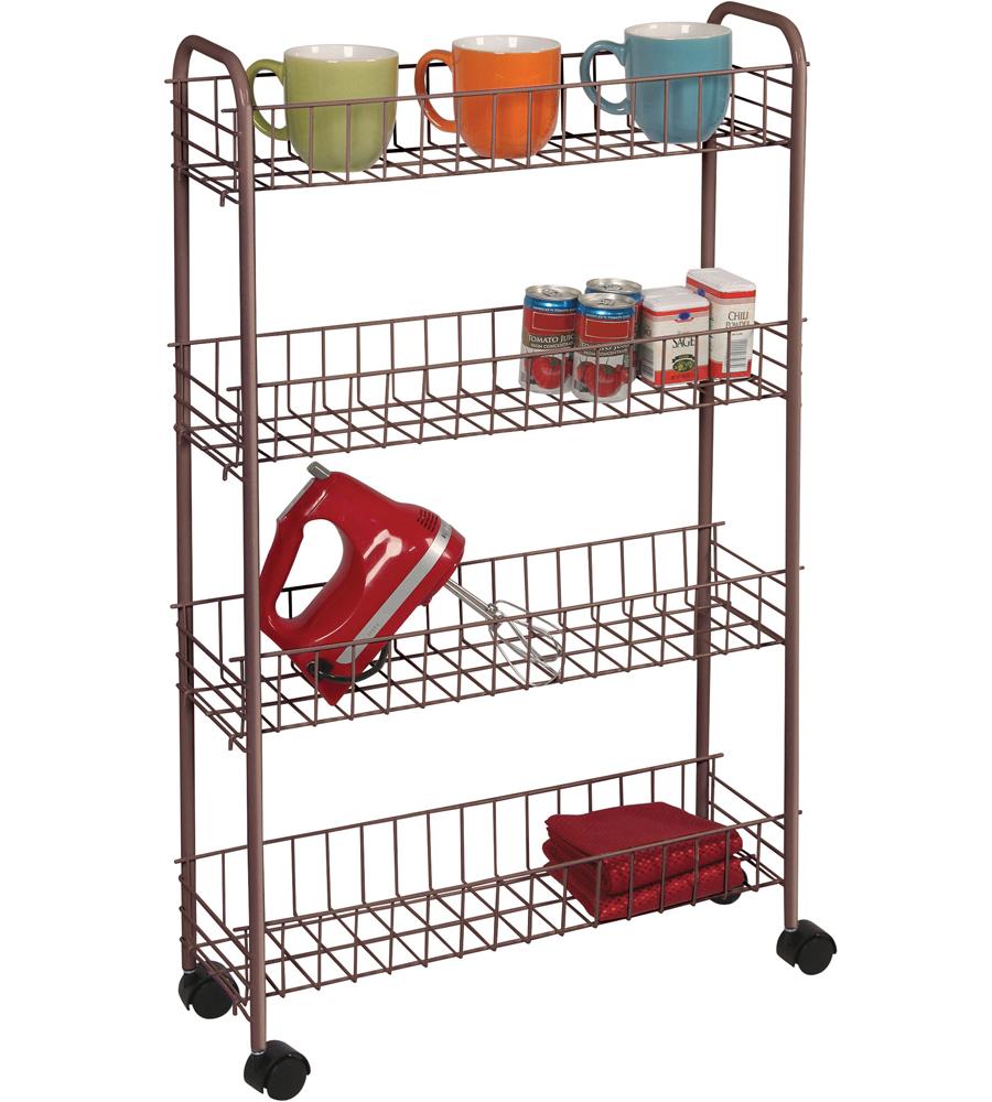 Narrow Rolling Storage Cart Designs