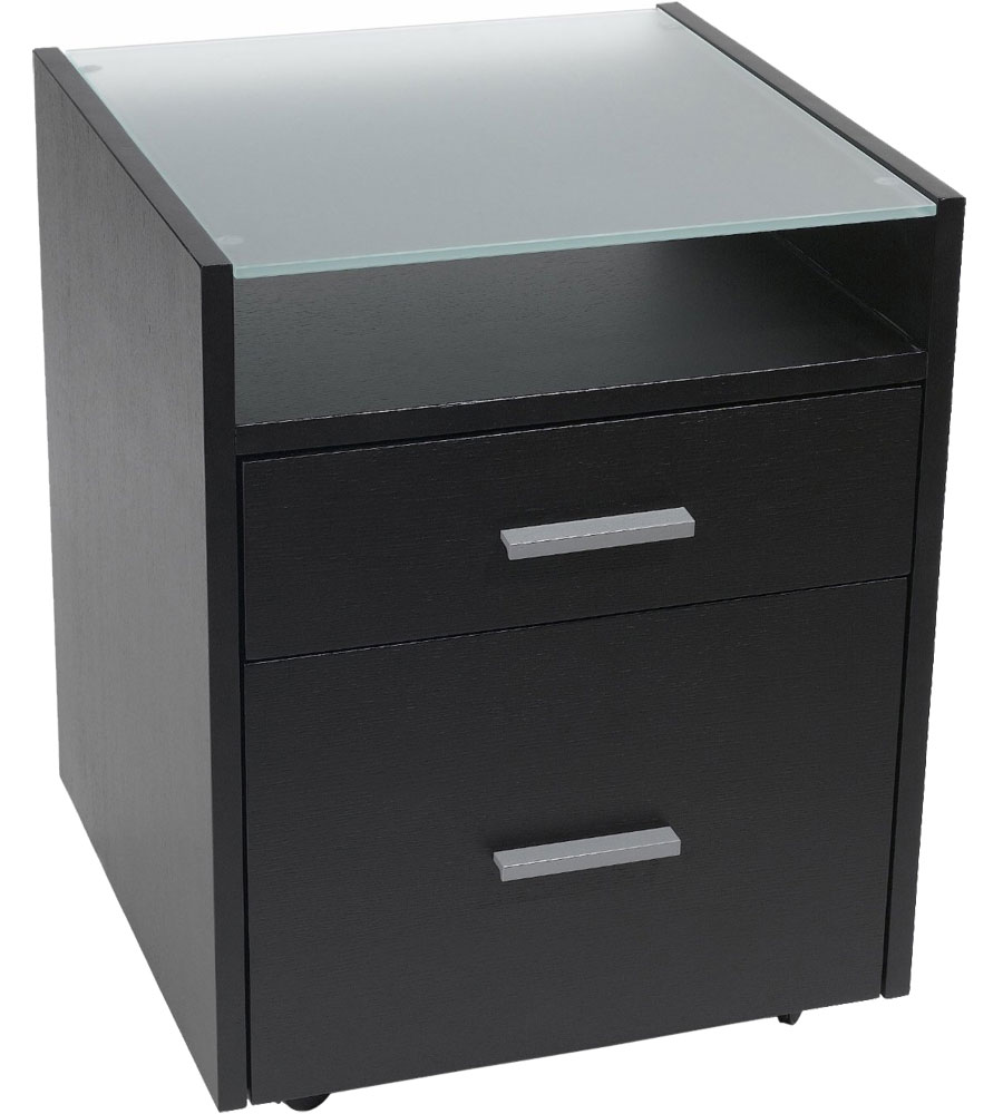 Rolling Wood File Cabinet - Wenge in File Cabinets