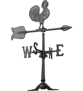 Rooftop Weathervane - Rooster Image