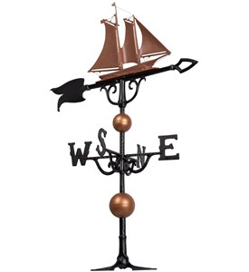 46 Inch Rooftop Weathervane - Yacht Image