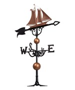 46 Inch Rooftop Weathervane - Yacht