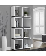 Room Divider Bookcase - Reclaimed Wood Look
