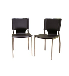 Rossi Bonded Leather Dining Chair Set Of Two By Wholesale Interiors Inc Image