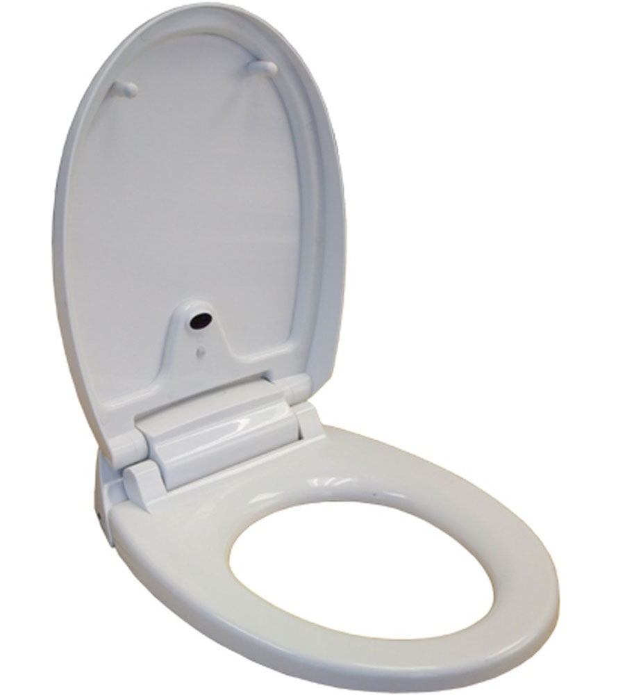 Automatic Toilets For Homes : Round automatic toilet seat in home healthcare equipment