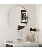 Round Bathroom Mirror with Side Magnifier