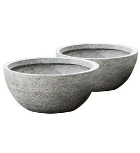 Round Bowl Planters (Set of 2) Image