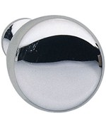 Round Cabinet Knob - Polished Chrome