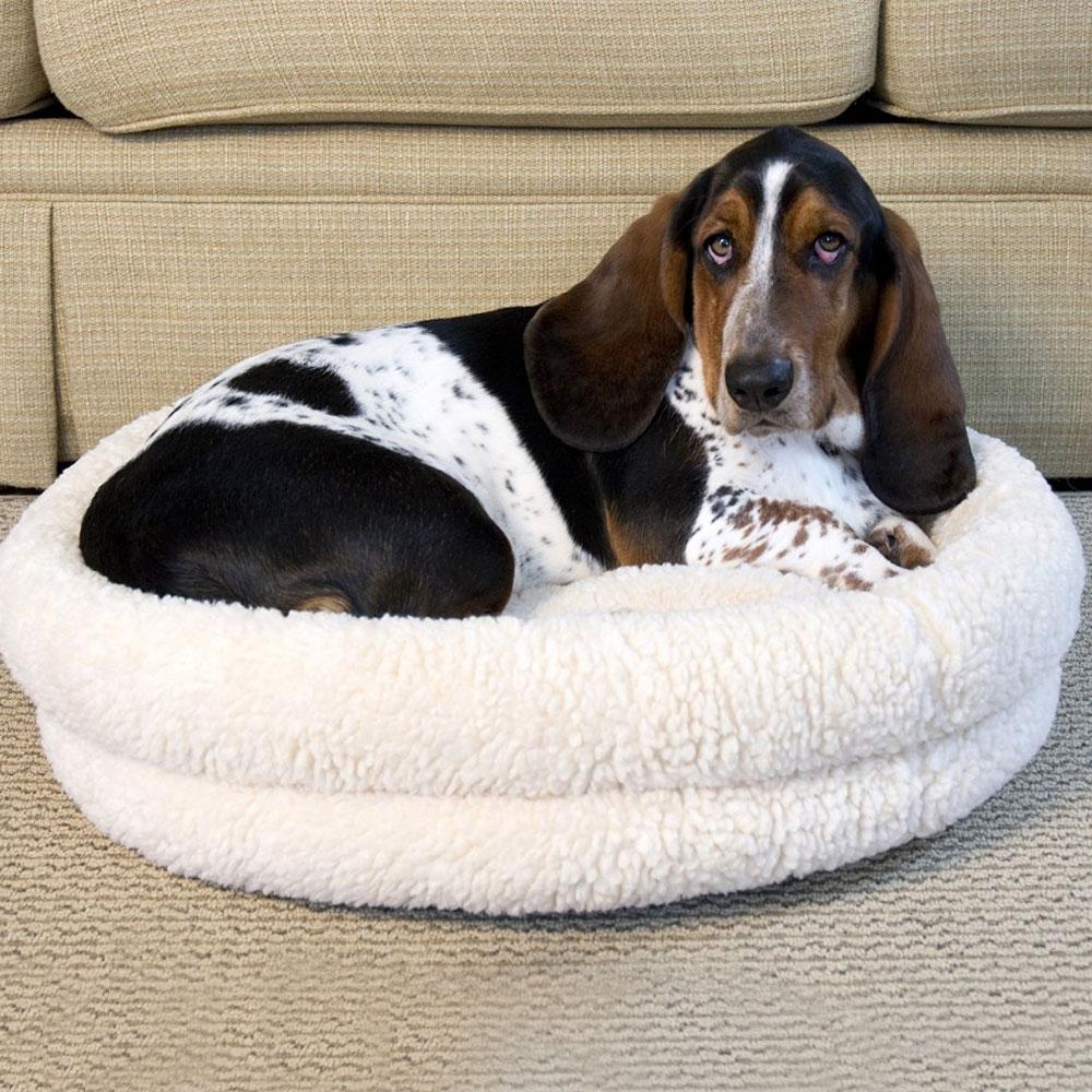 round dog bed bamboo dog hammock in pet beds  rh   organizeit