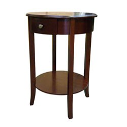Round End Table - Cherry by O.R.E. Image