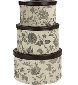 Round Hat Boxes (Set of 3) Image
