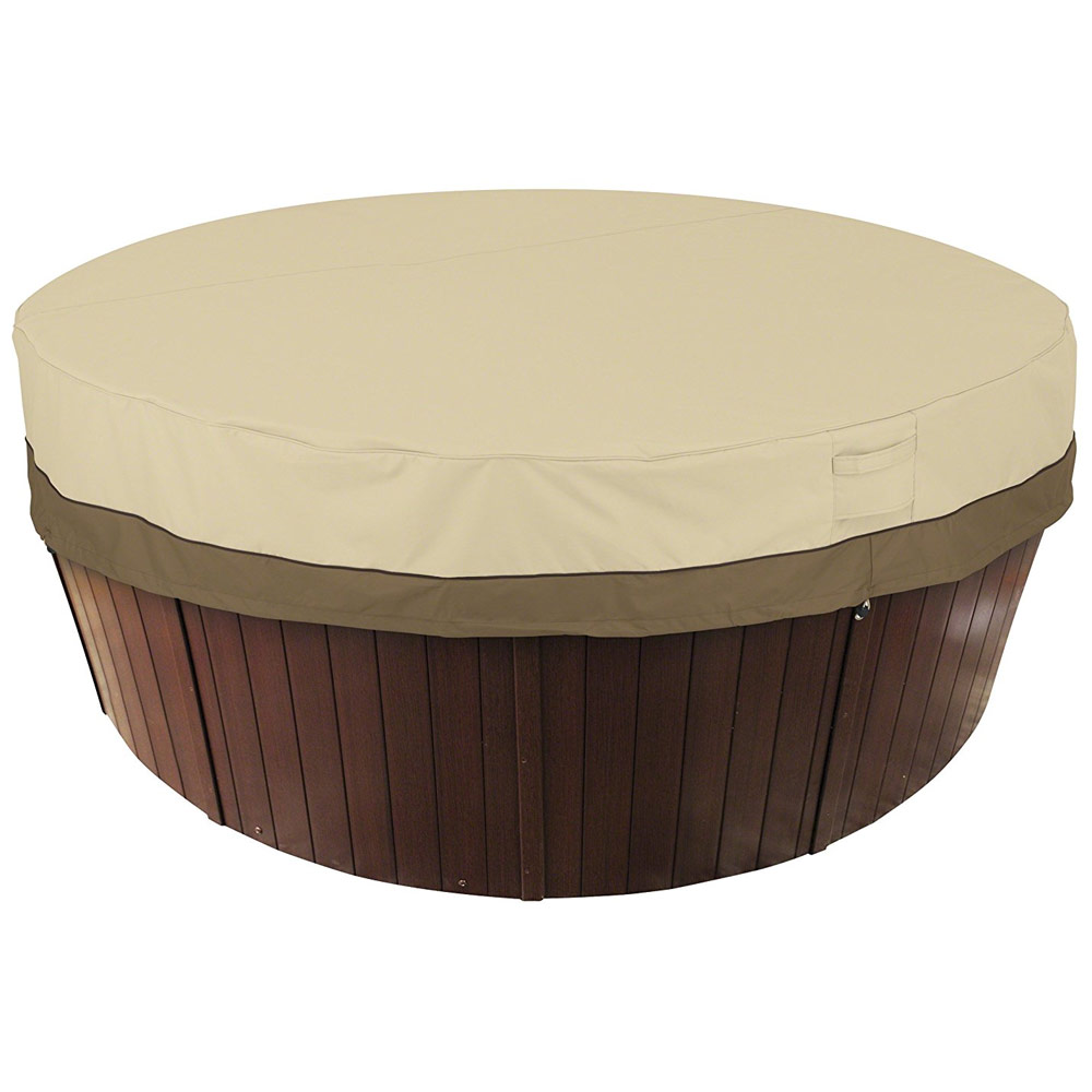 zoom cal round interior and spas loading tub hot snow white series cabinet with coleman mahogany